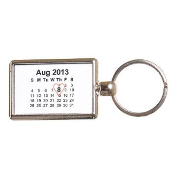 Double-Sided Calendar Keyring - Save The Date Keyring